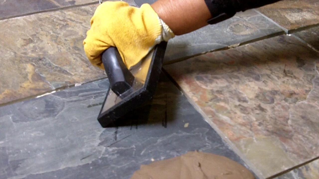 How to install slate tile floor