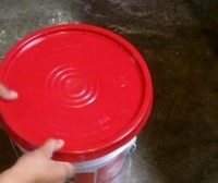 How To Remove Lid From  Gallon Paint Bucket