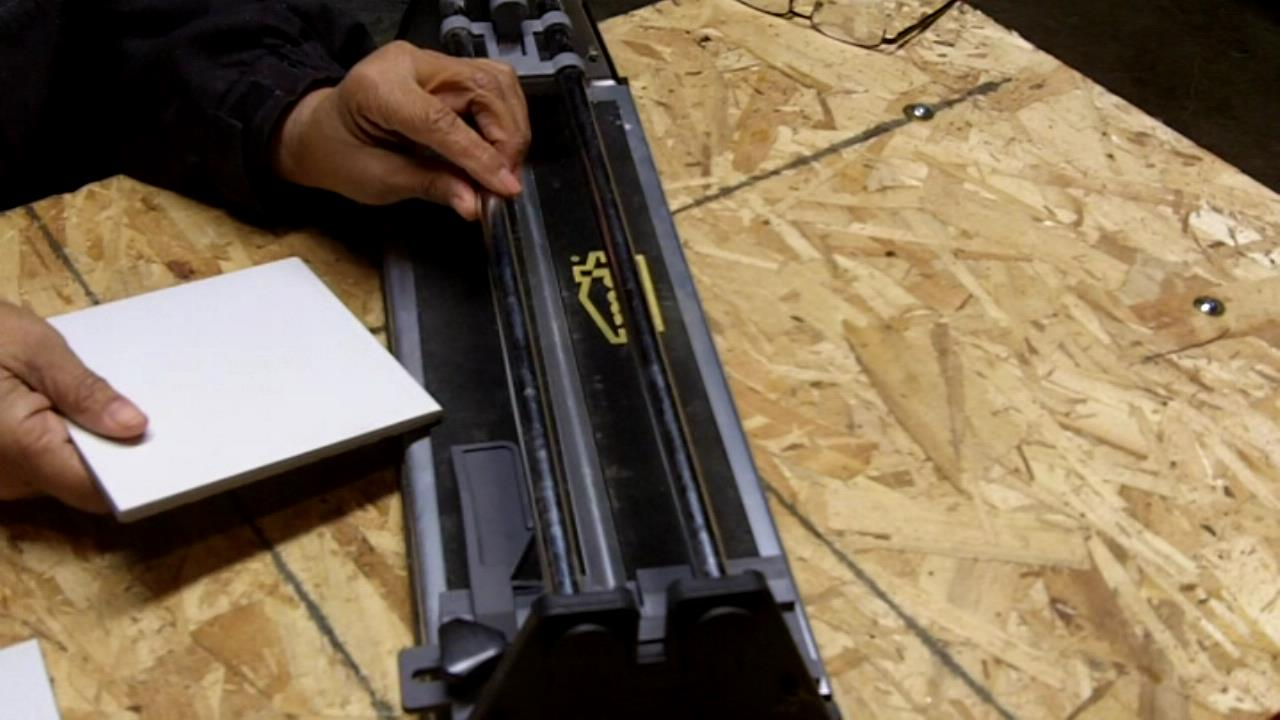 How To Use A Manual Tile Cutter See Jane Drill