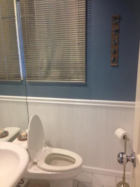 Bathroom After Wainscoting