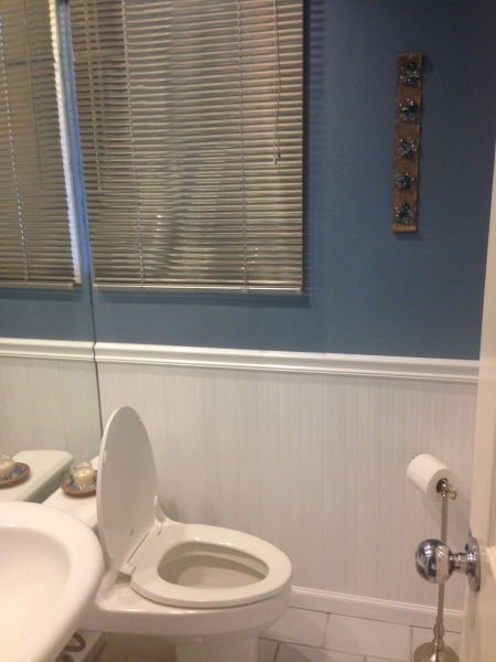 Bathroom After Wainscoting