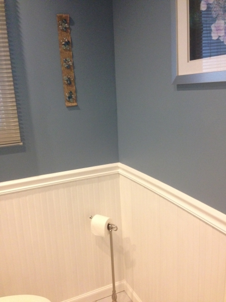 Completed Wainscoting Job