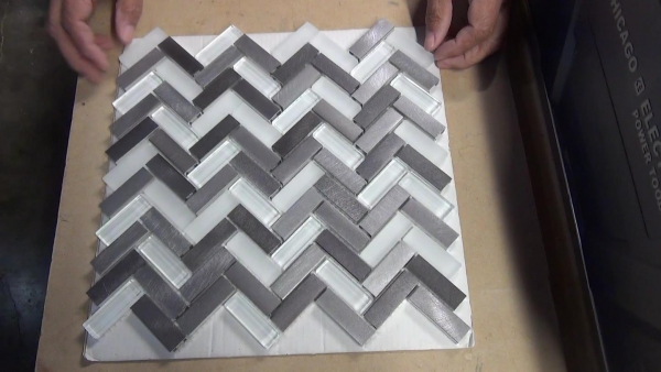 How To Cut Mosaic Tile Made Of Metal And Glass See Jane