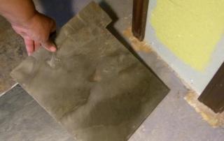 fit tile around door